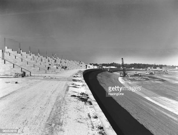 The trioval grandstands used concrete and block construction for the base Most other bleachers used metal structured bases The rebar at the top of...