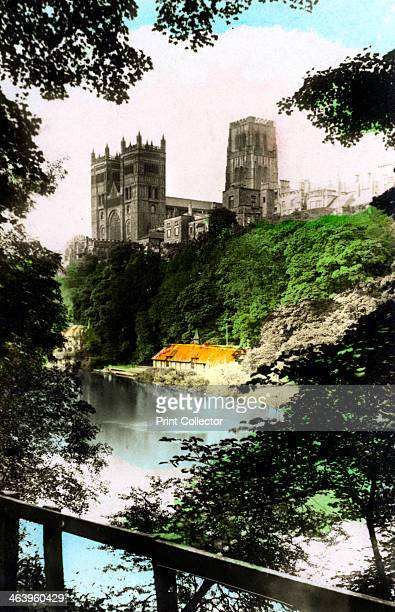 The triple towers of Durham Cathedral 1926 From the River Valleys set of handcoloured cigarette cards issued with Army Club Cigarettes Cavanders Ltd...