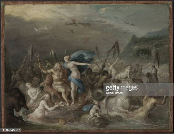 The Triumph of Neptune and Amphitrite, 1630s. Frans Francken . Oil on copper, mounted on wood; framed: 36.2 x 43.8 x 3.8 cm ; unframed: 23.5 x 30.9...