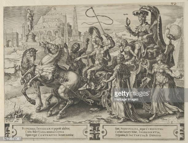 The Triumph of Pride, from The Cycle of the Vicissitudes of Human Affairs, plate 3, 1564. Artist Cornelis Cort.