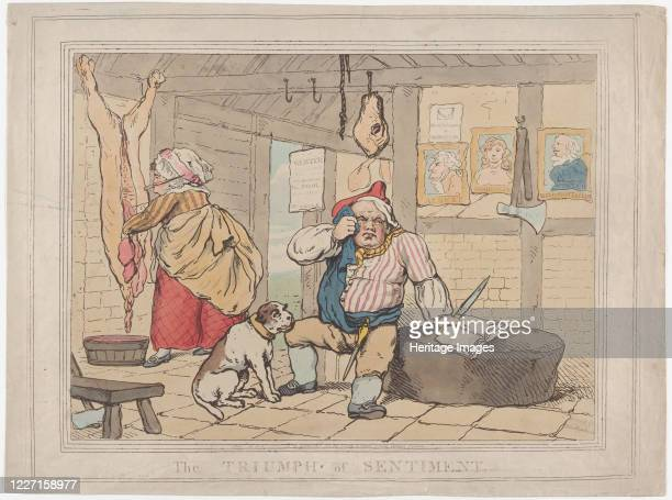 The Triumph of Sentiment January 15 1787 Artist Thomas Rowlandson
