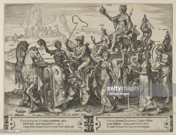 The Triumph of the Riches, from The Cycle of the Vicissitudes of Human Affairs, plate 2, 1564. Artist Cornelis Cort.