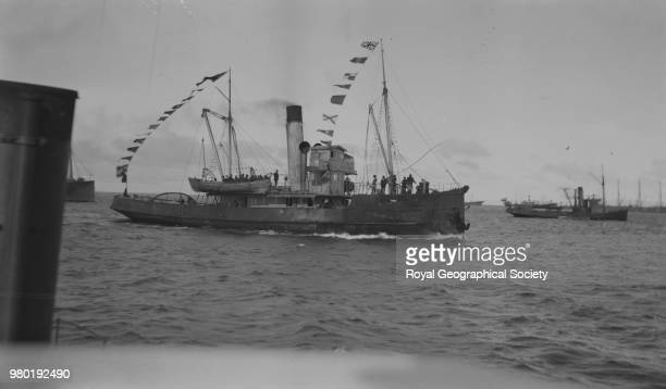 The triumphant 'Yelcho' with crew Punta Arenas Chile September 1916 Imperial TransAntarctic Expedition 19141916