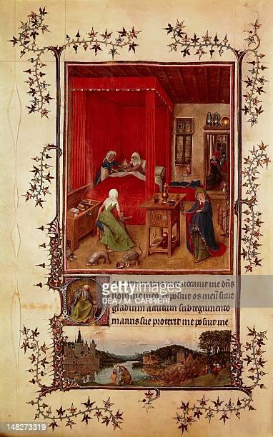 The Trivulzio Book of Hours, miniature by Jan van Eyck . ; Turin, Museo Civico D'Arte Antica .