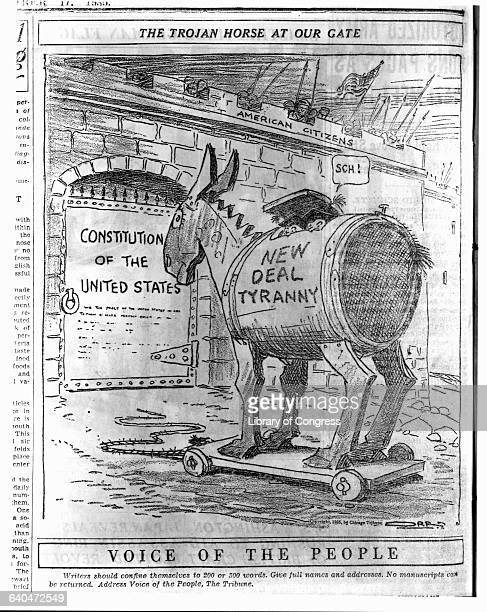 The Trojan Horse at Our Gate after Orr in Chicago Tribune Sept 17 1935 FILE PRINT IN LOT 4405
