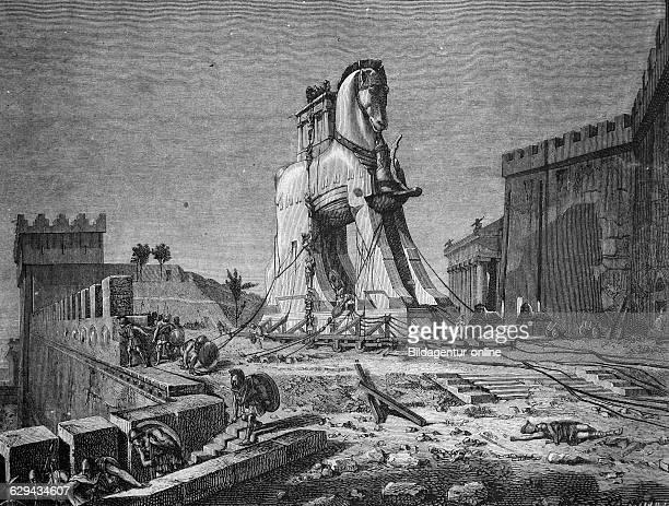 The trojan horse historic illustration 1877