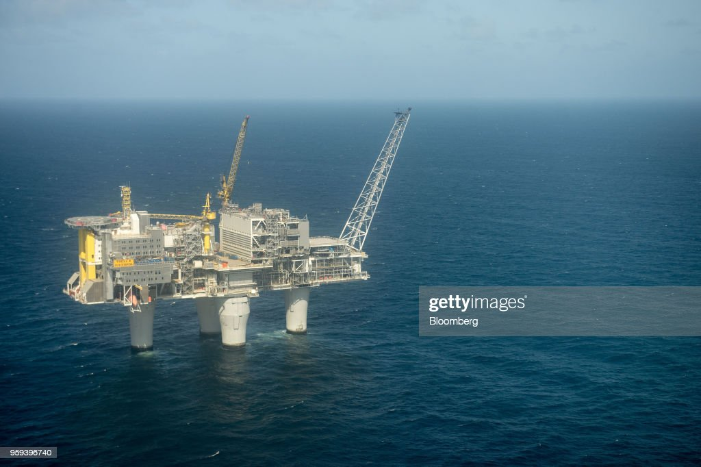 The Troll A natural gas platform, operated by Equinor ASA, stands in the North Sea, Norway, on Wednesday, May 16, 2018. Statoil has changed its name toEquinorto reflect its mutation into a broader energy company.Photographer: Carina Johansen/Bloomberg via Getty Images