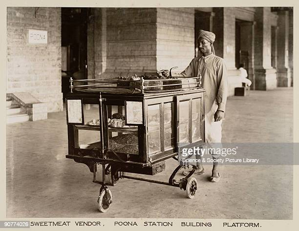 The trolley also sells cigars and tobacco These trolleys were used in large stations so that passengers would not have a long walk if they needed to...