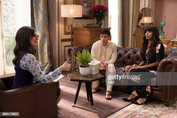 PLACE 'The Trolley Problem' Episode 206 Pictured D'Arcy Carden as Janet Manny Jacinto as Jianyu Jameela Jamil as Tehani
