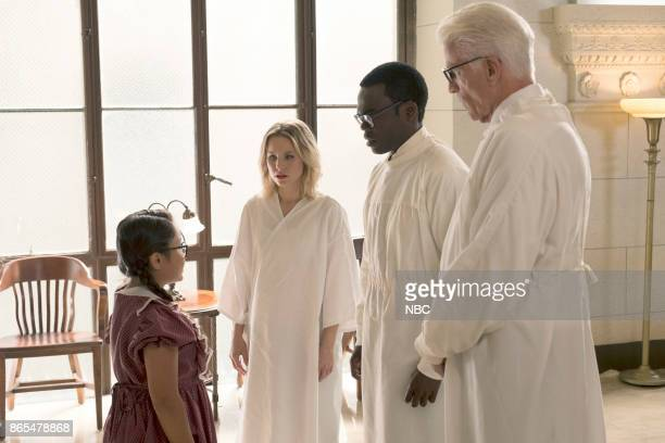 PLACE 'The Trolley Problem' Episode 206 Pictured Emma Vivien Garcia as Birdie Kristen Bell as Eleanor William Jackson Harper as Chidi Ted Danson as...