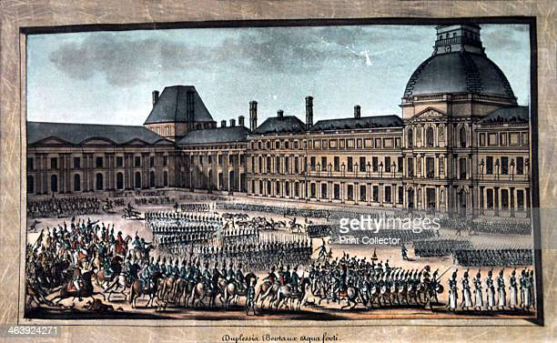'The Troop Parade during the Grand Parade, Tuileries Palace', 19th century.