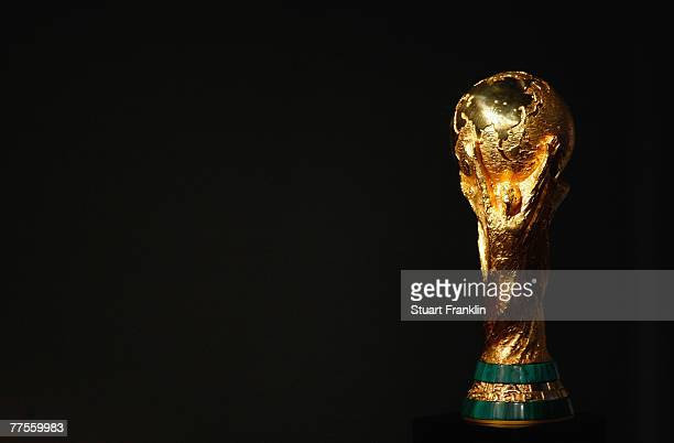 The trophy for the FIFA World Cup at the FIFA Executive Committee announcement for the host venue of the FIFA Womens World Cup 2011, at the FIFA...