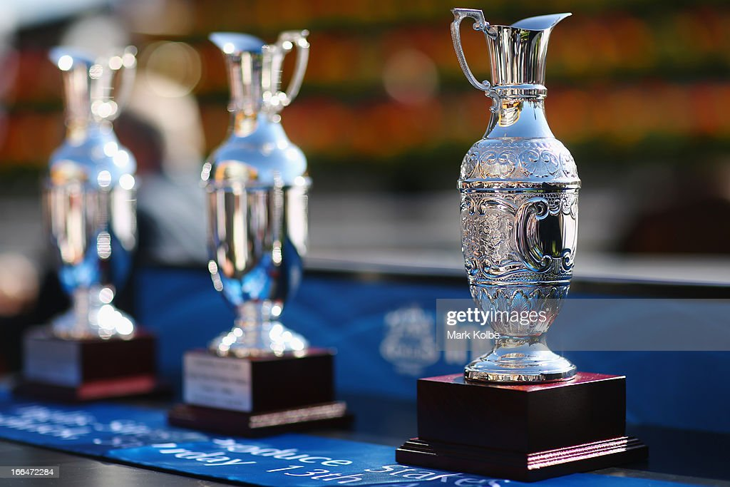 The trophy for the Inglis Sires Produce Stakes is seen on Australian Derby Day at Royal Randwick Racecourse on April 13, 2013 in Sydney, Australia.