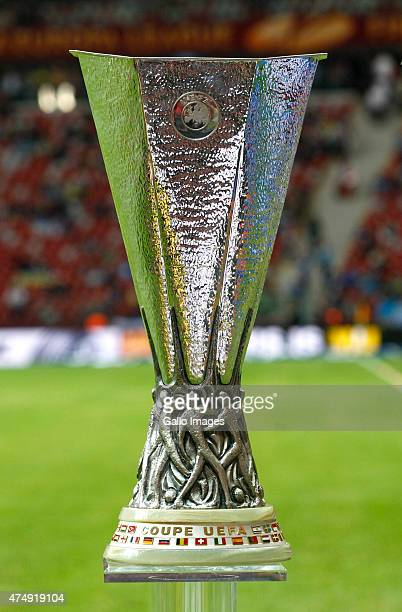 The trophy for the UEFA Europa League Final match between Sevilla FC and Dnipro Dnipropietrovsk on May 27, 2015 at National Stadium in Warsaw, Poland