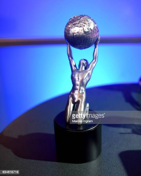The trophy is seen at the 48th NAACP Image Awards at Pasadena Civic Auditorium on February 11 2017 in Pasadena California