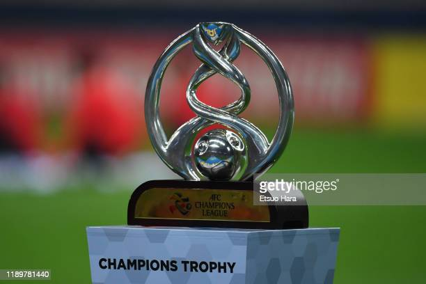 The trophy is seen prior to the AFC Champions League Final second leg match between Urawa Red Diamonds and Al Hilal at Saitama Stadium on November...