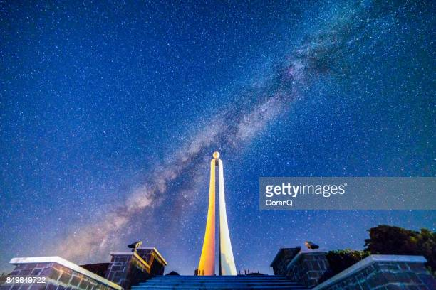 The tropic of cancer monument with milkway, Taiwan