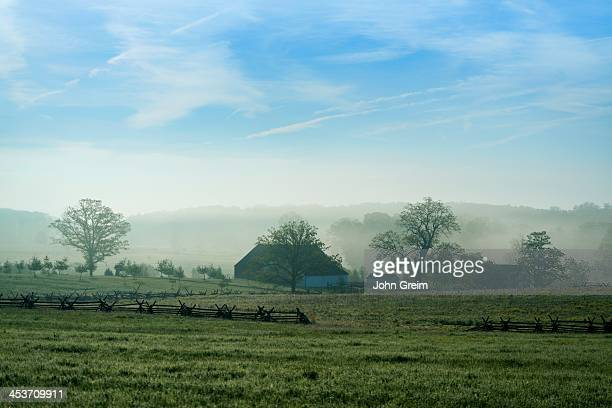 The Trostle Farm and battlefield, Gettysburg National Military Park.