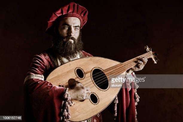 the troubadour - renaissance stock pictures, royalty-free photos & images