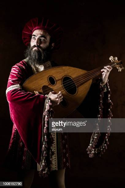 the troubadour - minstrel show stock photos and pictures