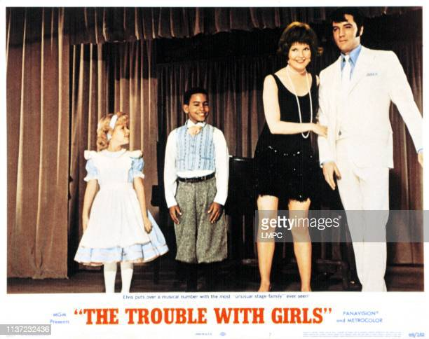 The Trouble With Girls lobbycard Anissa Jones Pepe Brown Marlyn Mason Elvis Presley 1969