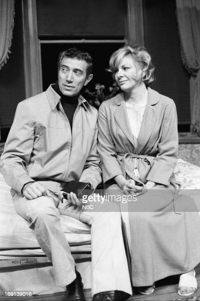 THEATRE 'The Trouble with People' Pictured Joseph Campanella as Detective Renee Taylor as Lure in 'The Night Visitor'