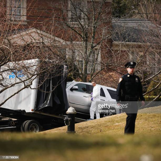 "The truck reported to have been owned by reputed mob boss Francesco ""Franky Boy"" Cali is removed from in front of his home after he was gunned down..."