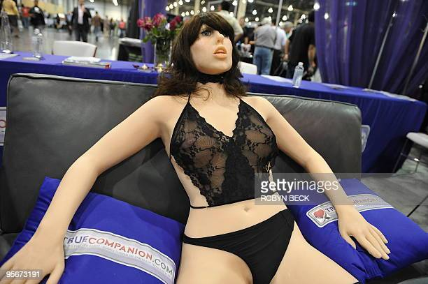 The 'True Companion' sex robot Roxxxy on display at the TrueCompanioncom booth at the AVN Adult Entertainment Expo in Las Vegas Nevada January 9 2010...