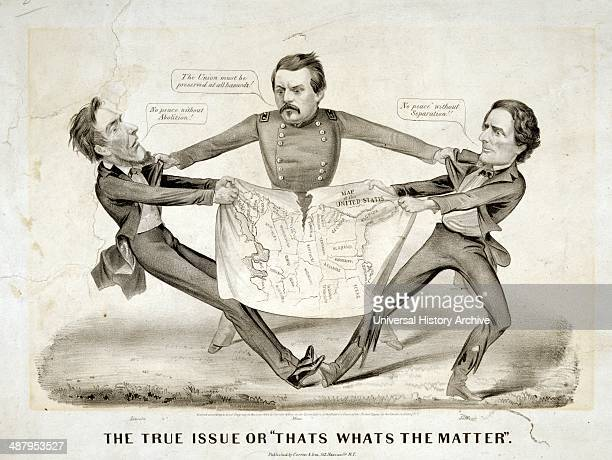 The true issue or 'That's what's the matter 'by Currier Ives c1864 In a rare proDemocrat cartoon presidential aspirant George Brinton McClellan is...