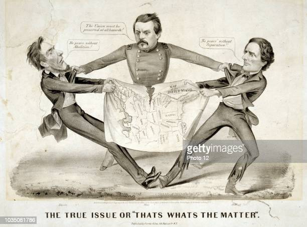 The true issue or That's what's the matter' In a rare proDemocrat cartoon presidential aspirant George Brinton McClellan is portrayed as the...