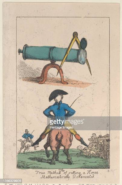 The True Method of Sitting a Horse Mathematically Delineated 1809 Artist Thomas Rowlandson