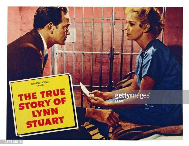 The True Story Of Lynn Stuart US lobbycard from left Barry Atwater Betsy Palmer 1958