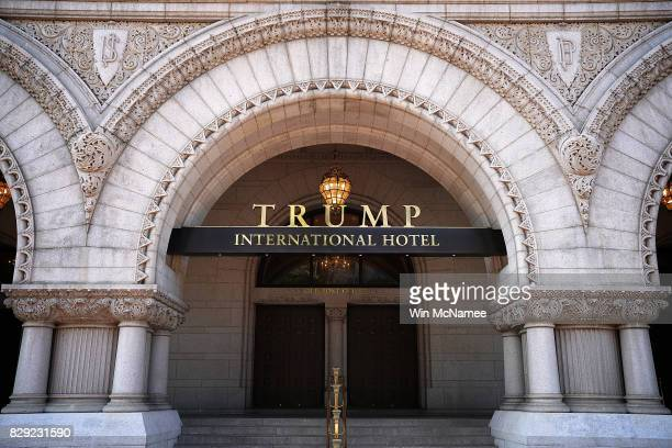 The Trump International Hotel is shown on August 10 2017 in Washington DC The hotel located blocks from the White House has become both a tourist...