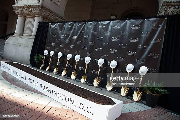 The Trump International Hotel Washington, D.C Groundbreaking Ceremony on July 23, 2014 in Washington, DC.