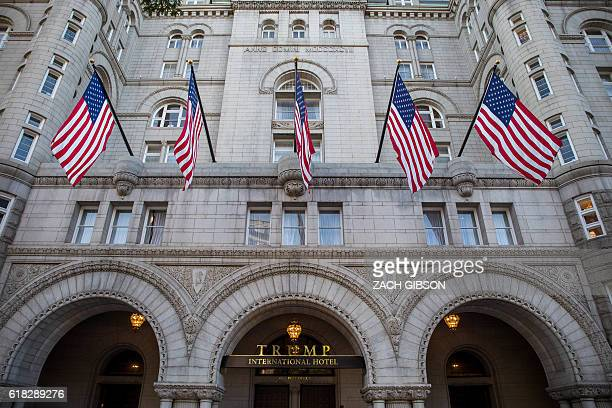 The Trump International Hotel Washington is pictured before its grand opening October 26 2016 in Washington DC / AFP / ZACH GIBSON
