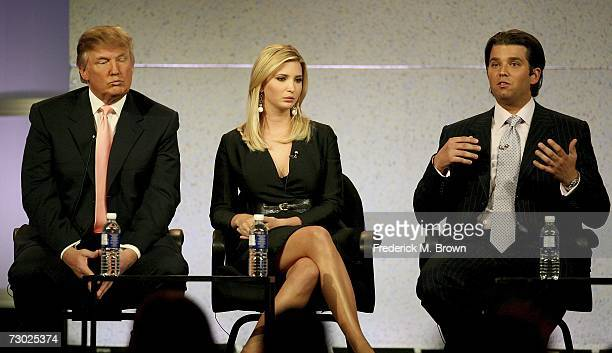 The Trump Organization's Donald Ivanka and Donald Jr of The Apprentice speak during the 2007 Winter Television Critics Association Press Tour for NBC...