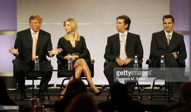 The Trump Organization's Donald Trump Ivanka Trump Donald Trump Jr and Bill Rancic of 'The Apprentice' speak during the 2007 Winter Television...