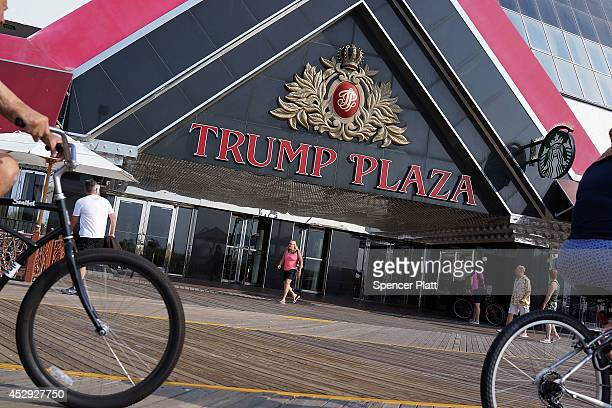 The Trump Plaza ,which is scheduled to close, is viewed in Atlantic City on July 30, 2014 in Atlantic City, New Jersey. Since January of 2014, four...