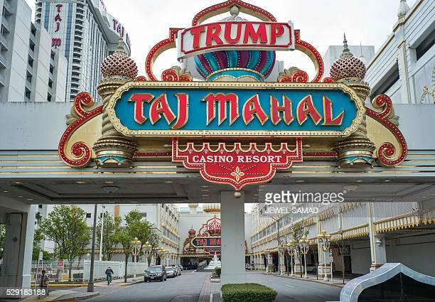 The Trump Taj Mahal casino resort is seen in Atlantic City New Jersey on May 8 2016 Atlantic City the famous US gambling resort town and setting for...