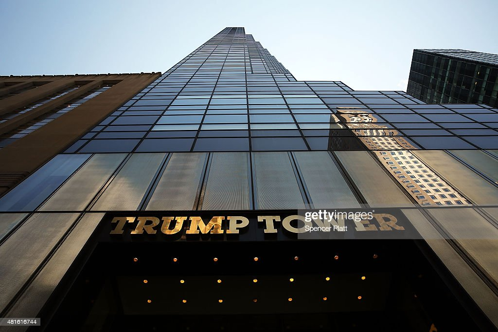Trump Properties In New York City Draw Increased Scrutiny As He Embarks On Presidential Run : News Photo