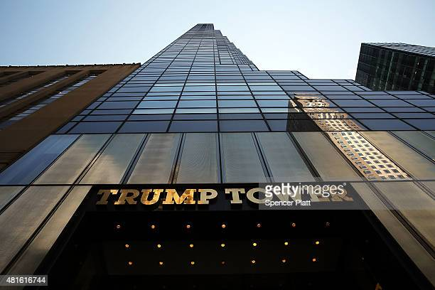 The Trump Tower building is viewed on 5th Avenue on July 22 2015 in New York City Donald Trump who is running for president on a Republican ticket...