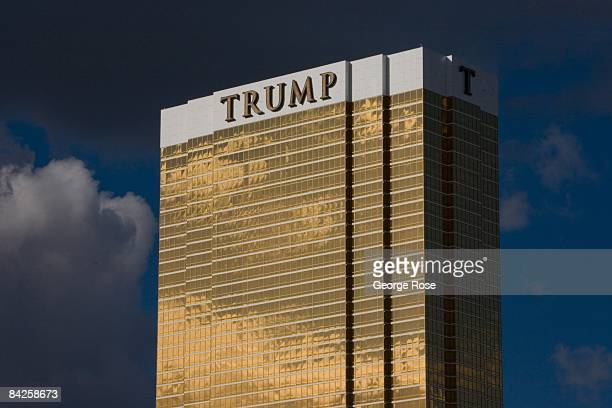 The Trump Tower located on the Las Vegas Strip glistens in the afternoon sun in this 2009 Las Vegas Nevada exterior photo