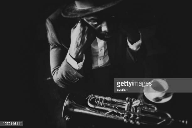 トランペット奏者 - ブルース ストックフォトと画像