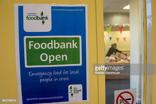 The Trussell Trust Food Bank on December 21 2015 in Liverpool England The Trussell Trust has seen a rise in foodbank use in the period April to...