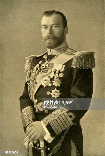 "The Tsar Nicholas II', 1910s, . Portrait of Emperor Nicholas II of Russia. From ""The Great World War - A History: Volume 1"". [The Gresham Publishing..."