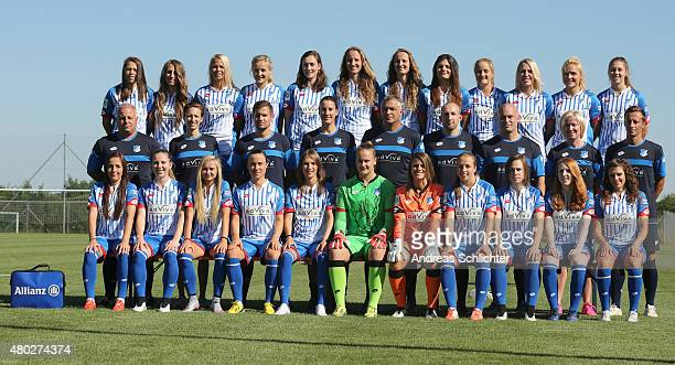 The TSG Hoffenheim Team : Nicole Billa , Anne Fuehner , Stephanie Breitner , Leonie Keilbuch , Christine Schneider , Tamar Dongus , Fabienne Dongus ,...
