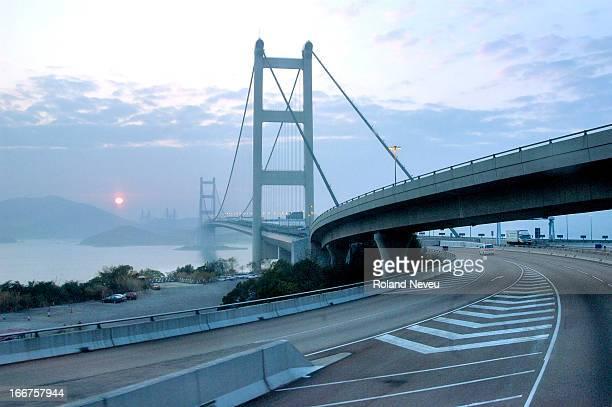 The Tsing Ma bridge leading to Hong Kong airport