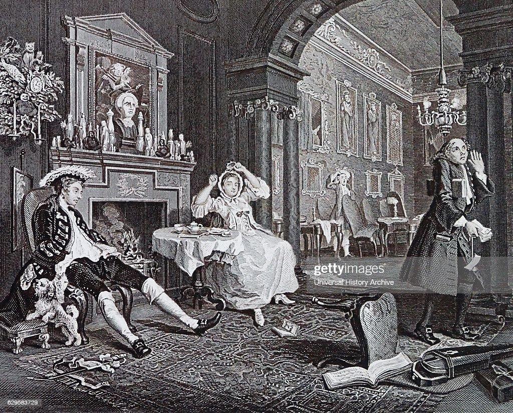The Tête à Tête from Marriage à-la-mode, 1743 - 1745;