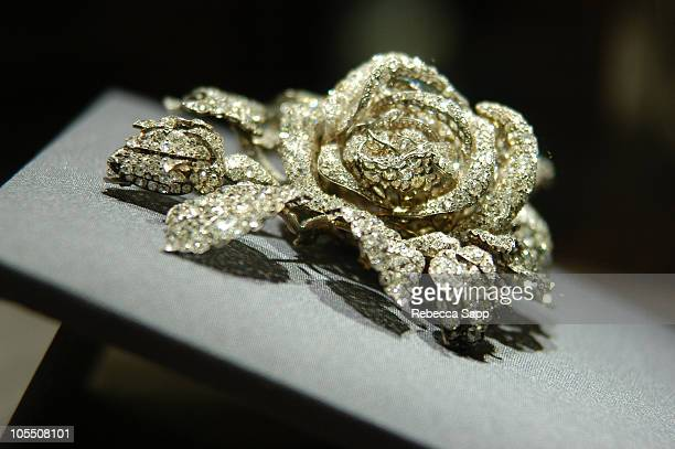 The Tudor Rose brooch during Christie's Magnificent Jewel Reception at Christie's in Beverly Hills California United States