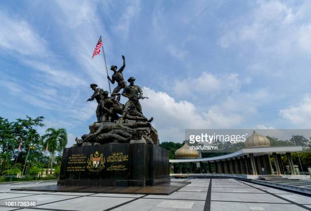 The Tugu Negara is a sculpture that commemorates those who died in Malaysia's struggle for freedom, principally against the Japanese occupation during WWII.
